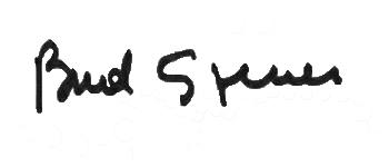 Die Unterschrift / das Autogramm von Bud Spencer