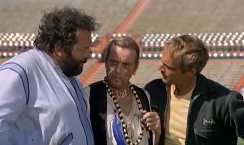 Luciano Rossi mit Bud Spencer und Terence Hill