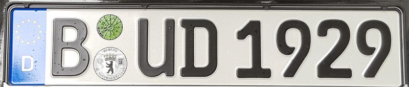 Nummernschild KFZ Kennzeichen Bud Spencer