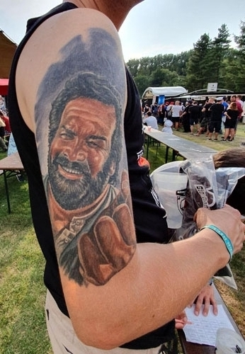 Bud Spencer Tattoo Oberarm