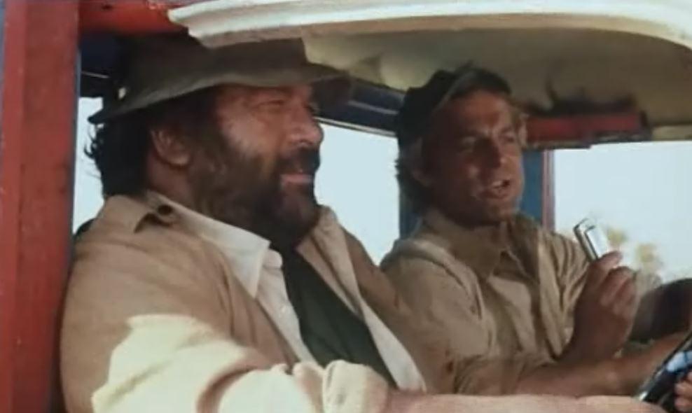 Bud Spencer und Terence Hill im Film Das Krokodil und sein Nilpferd