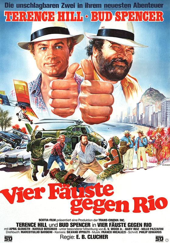 """Filmplakat Deutsch """"Vier Fäuste gegen Rio"""""""