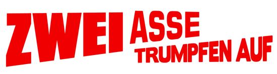 Zwei Asse trumpfen auf Bud Spencer und Terence Hill Film Cover Schriftzug Logo