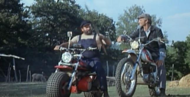 Motorräder vom Film Zwei wie Pech und Schwefel