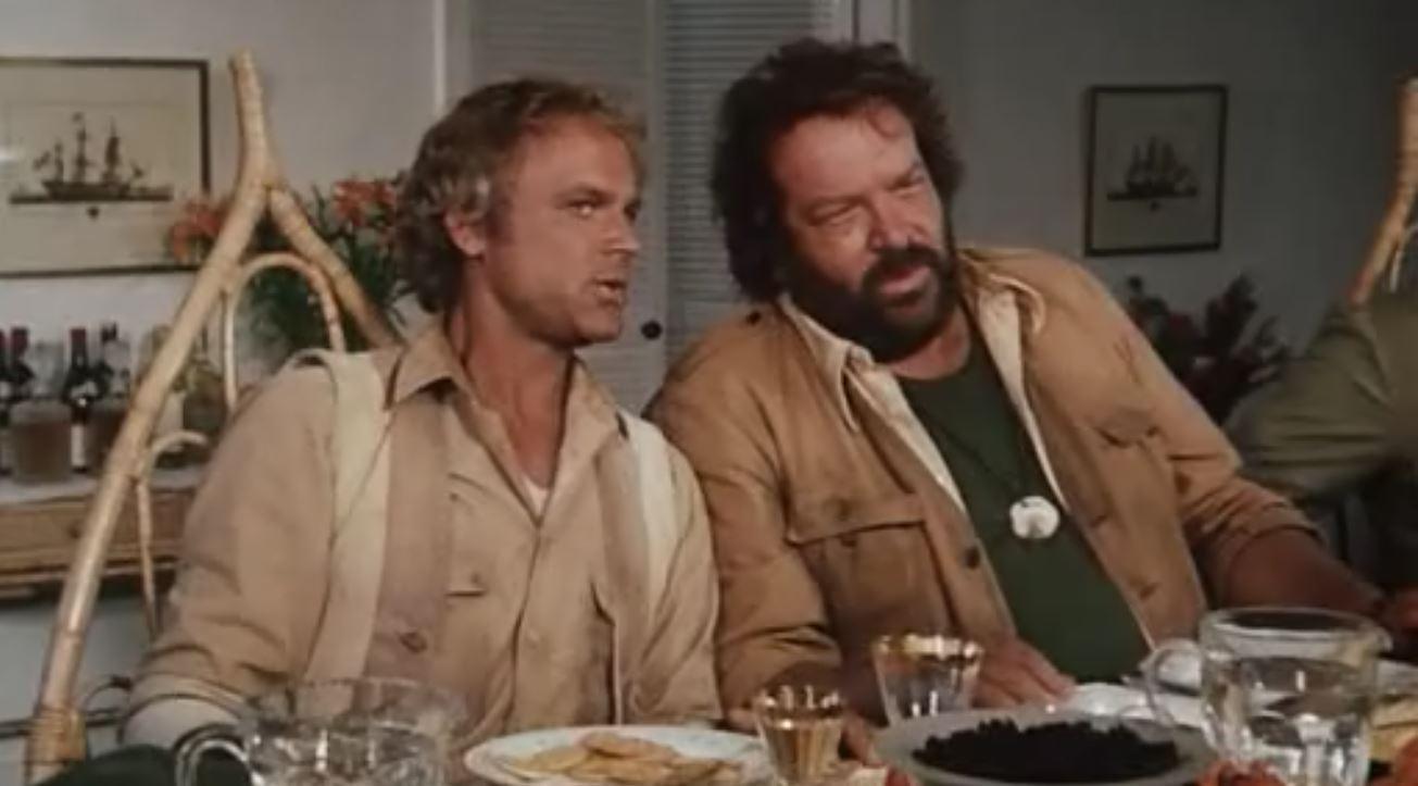 Slim und Tom aus dem Film Das Krokodil und sein Nilpferd
