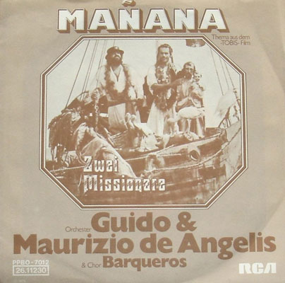 Soundtrack Cover LP Zwei Missionare De Angelis Manana