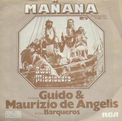 Soundtrack Cover LP Zwei Missionare De Angelis Manana