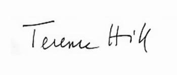Die Unterschrift / das Autogramm von Terence Hill