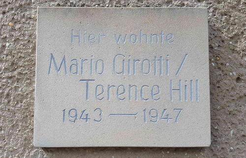 Gedenktafel am Haus in Lommatzsch in dem Terence Hill lebte